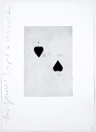 Donald Sultan, 'Two Spades', 1990