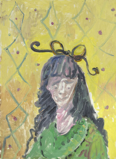 George Condo, 'Girl With Bow Tie', 1987