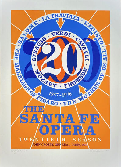 Robert Indiana, 'The Santa Fe Opera, 20th/ Twentieth Season 1957-1976', 1976