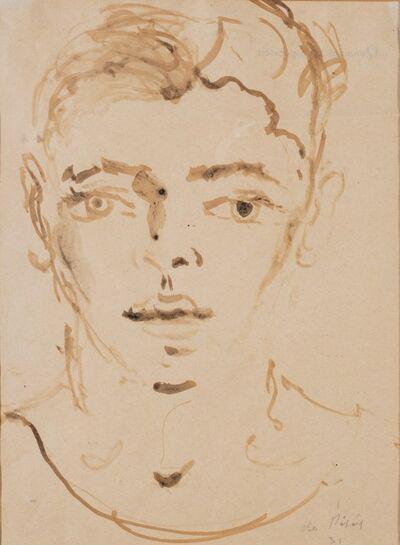 Filippo De Pisis, 'Young boy face', 1931