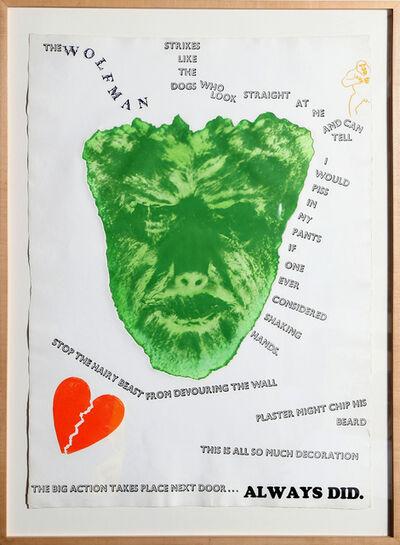Jim Dine, 'Wolfman (Wall)', 1967