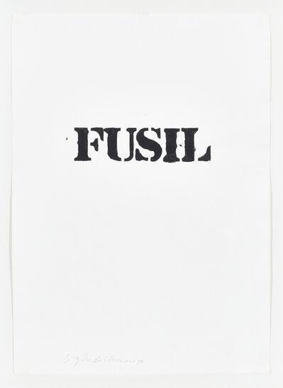 Sigfredo Chacón, 'Fusil', 1974