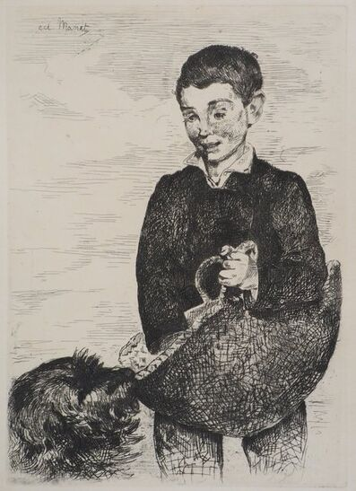 Édouard Manet, 'The Child with the Dog', 1860
