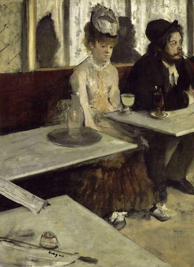 Edgar Degas, 'Dans un café (L'absinthe)', 1875-1876