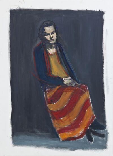 Damien Cabanes, 'Maëlle assise sur fond noir', 2013