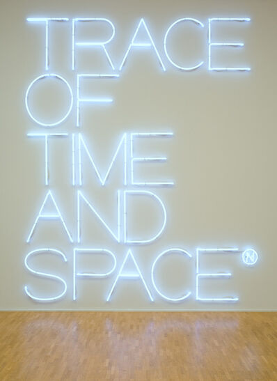 Maurizio Nannucci, 'Trace of time and space', 2006