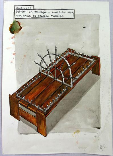 Daniel Murgel, 'Projeto nº 1 – Design da Turbação – Ofendículo para mesa/banco de Joaquim Tenreiro [Project nº 1 - Design of Disturbance - Barrier for Joaquim Tenreiro`s table/banch] ', 2015