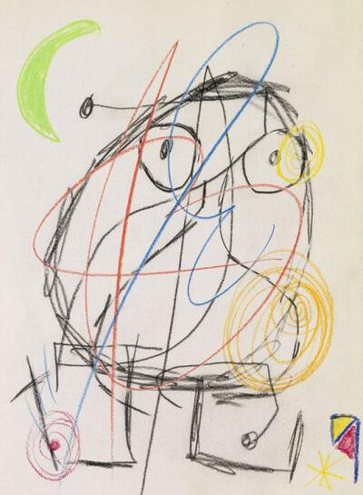 Joan Miró, 'chalk drawing', 1976
