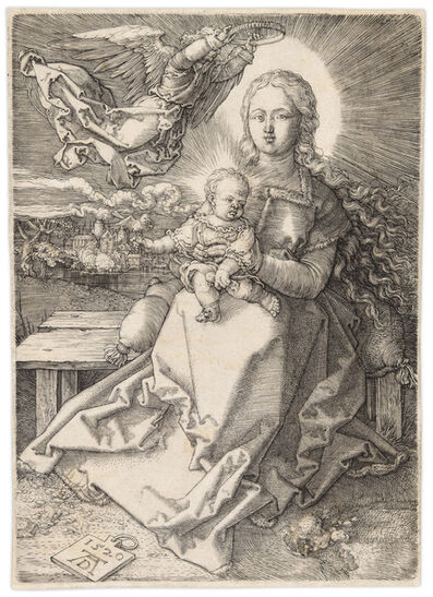Albrecht Dürer, 'MADONNA CROWNED BY ONE ANGEL', 1520