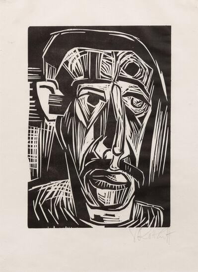Karl Schmidt-Rottluff, 'Kopf eines Mannes from Arno Holz zum 60. Geburtstag', 1922