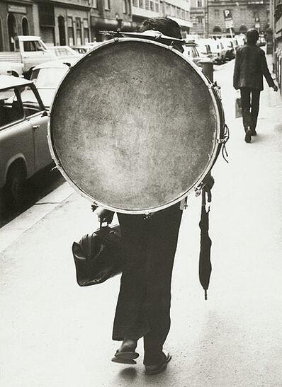 Frantisek Dostal, 'Man Carrying a Drum, Prague', 1972