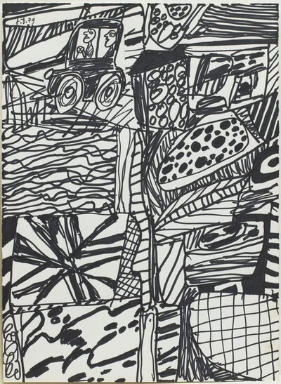 Jean Dubuffet, 'Situation CIX (Site agreste à l'auto)', February 28-1979