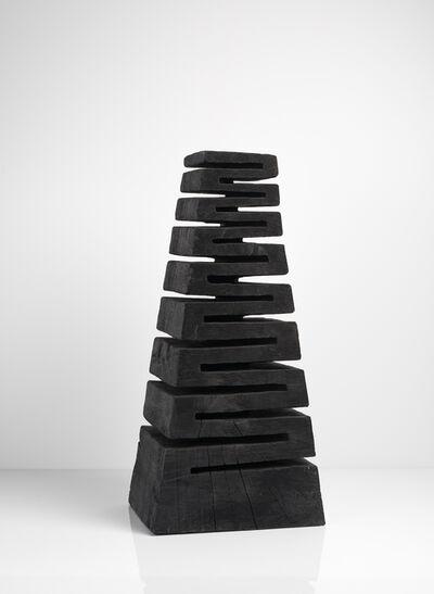 David Nash, 'Serpentine Column', 2017