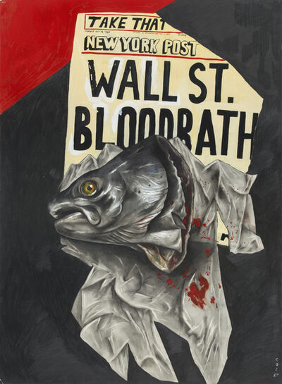 Sue Coe, 'Wall Street Bloodbath', 1987