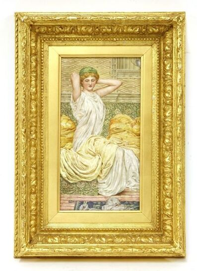 Sir Lawrence Alma-Tadema, 'A painted plaque'
