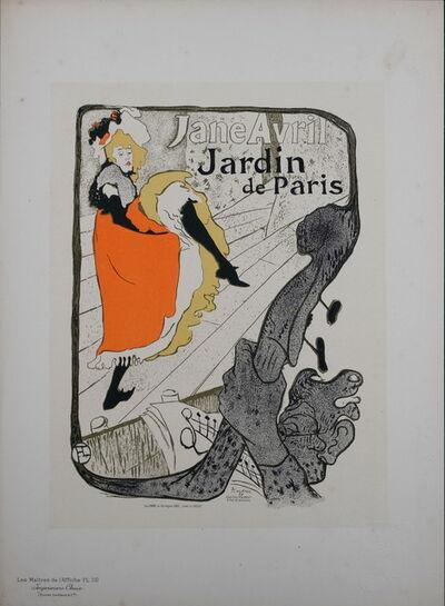 Henri de Toulouse-Lautrec, 'Maitres de L'affiche : Jane Avril', 1896