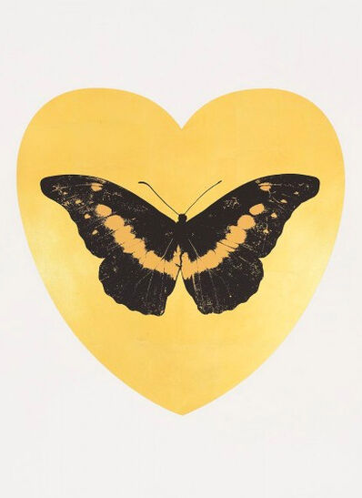 Damien Hirst, 'I Love You - Gold Leaf/Black/Cool Gold', 2015