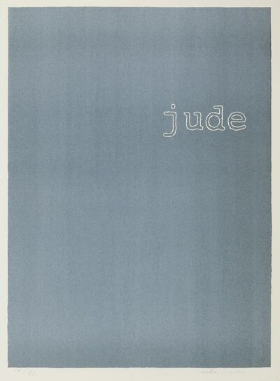 William Anastasi, 'Jude (blue)'