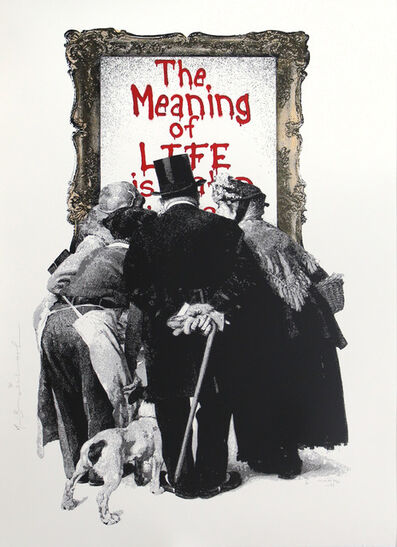 Mr. Brainwash, 'The Meaning of Life (Red)', 2019