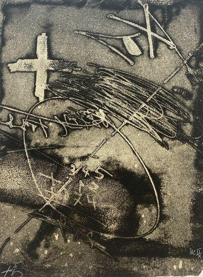 Antoni Tàpies, 'Paroles Peintes (Black and White)', 1975