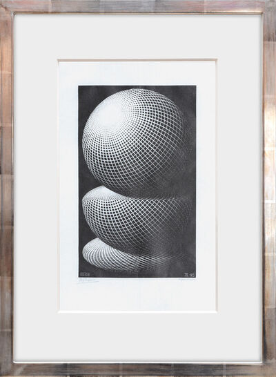 Maurits Cornelis Escher, 'Three Spheres I', 1945