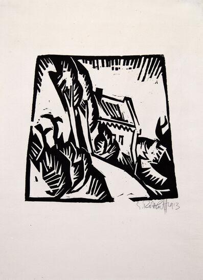 Karl Schmidt-Rottluff, 'Haus mit Pappeln', 1913