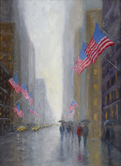 Mark Daly, 'Rainy Day Flags, NYC', 2019