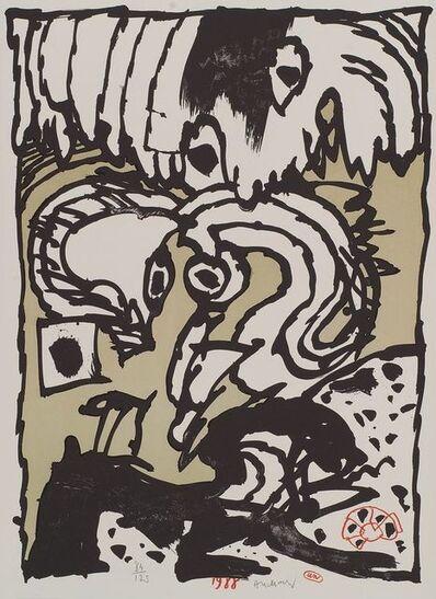 Pierre Alechinsky, 'Trois petits tours et puis s'en vont', 1988