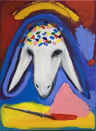 Menashe Kadishman, 'Paintbrush Sheep', ca. 1990