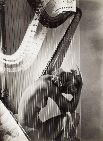 Horst P. Horst, 'Lisa with Harp', 1940