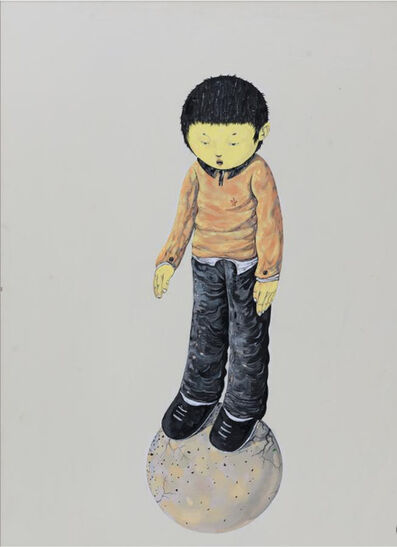 Li Jikai 李继开, 'The boy Standing on the ball', 2008