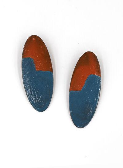 Kat Cole, 'Orange and Blue Oval Earrings ', 2017