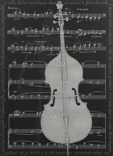 Rune Mields, ',Le noir est une couleur' (Matisse) A. Schönberg', 1987