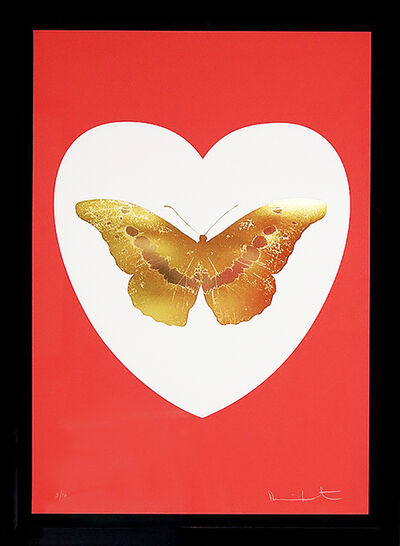 Damien Hirst, ''I Love You' Coral & Gold Butterfly', 2015