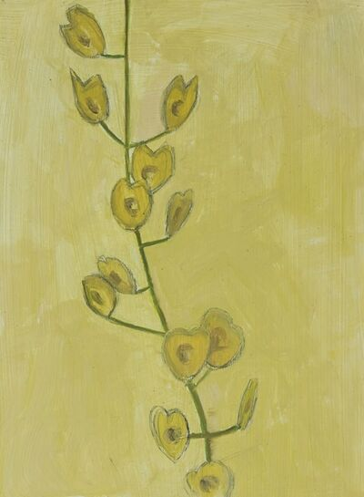Lois Dodd, 'Field Pennycress Seed Pods', 2017