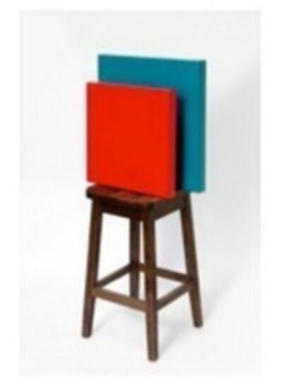 Horacio Zabala, 'Pedestal para dos monocromos (Duchamp & Malevich)'