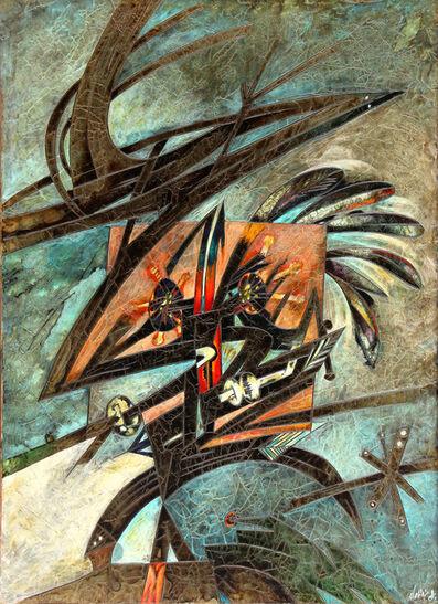 Gianni Dova, 'Gabbia e tagliola', 1964