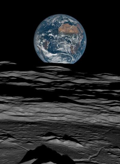 Michael Benson, 'Earth over the Lunar Horizon, Lunar Reconnaissance Orbiter, 12 October, 2015', 2016