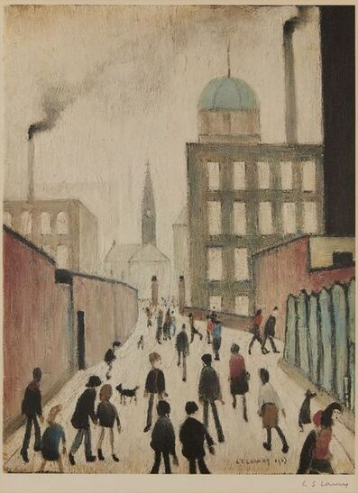 Laurence Stephen Lowry, 'Mrs Swindell's Picture', 1967