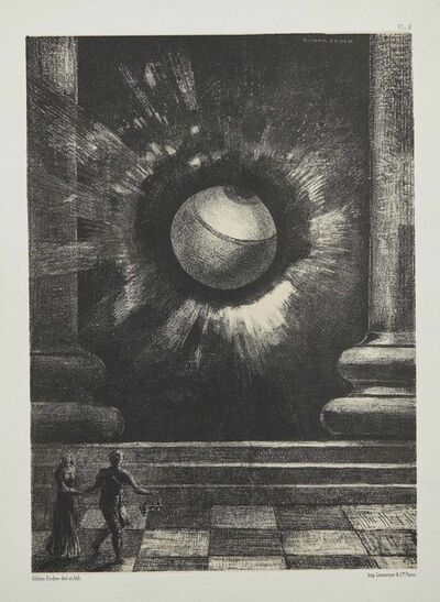 Odilon Redon, 'Vision, Plate VIII from: Dans Le Rêve', 1879