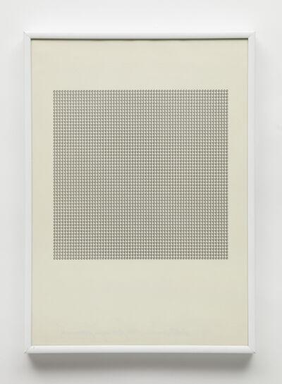 """Maurizio Nannucci, 'Dattilogramma """"o""""', 1965"""