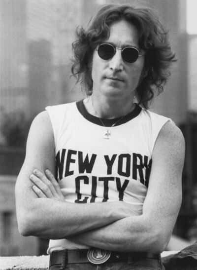 Bob Gruen, 'John Lennon, NYC T-shirt, NYC', 1974