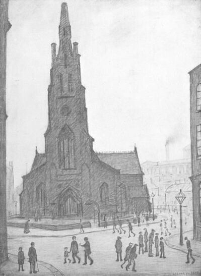 L.S. Lowry, 'St Simon's Church', ca. 1970