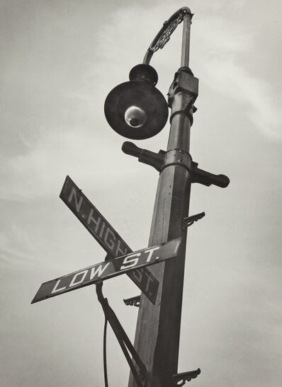 A. Aubrey Bodine, 'Intersection of High St. and Low St.', 1947