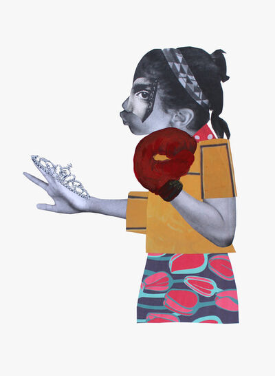 Deborah Roberts, 'Counter punch ', 2018