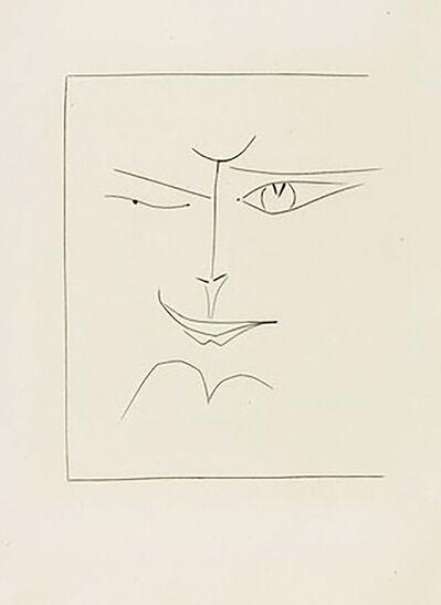 Pablo Picasso, 'Square Face Smirking (Plate XXX)', 1949