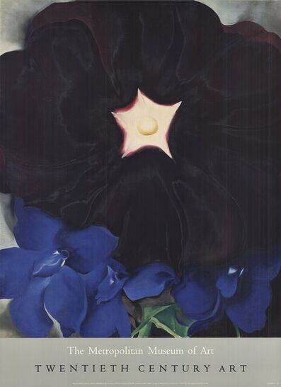 Georgia O'Keeffe, 'Black Hollyhock, Blue Larkspur', 1987