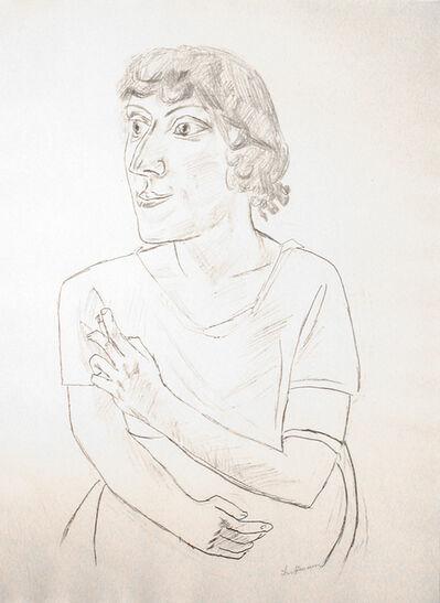 Max Beckmann, 'Sarika with a Cigarette', 1922