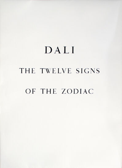 Salvador Dalí, 'Full Portfolio of 13 Original Lithographs: The Twelve Signs of The Zodiac', 1967