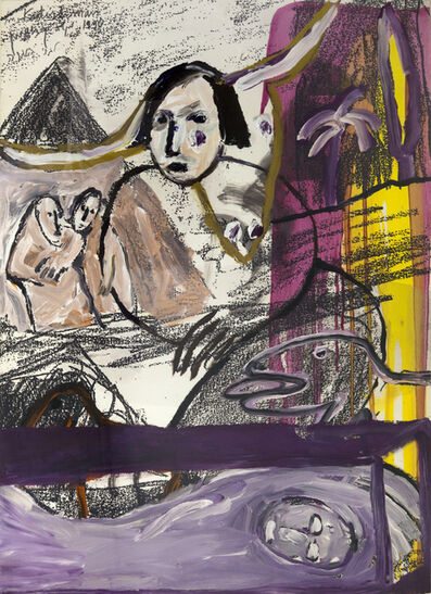 Menashe Kadishman, 'Figures', 1990